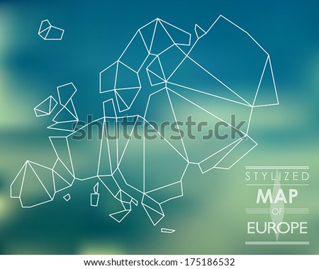 map of europe. map concept - stock vector
