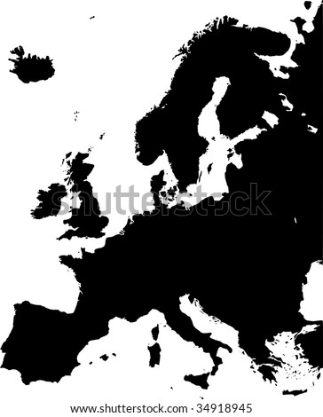 map of europe - vector - stock vector