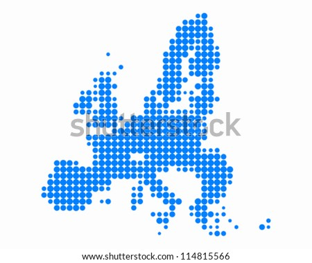 Map of European Union - stock vector