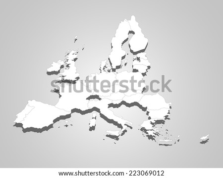 map of European Union - stock vector