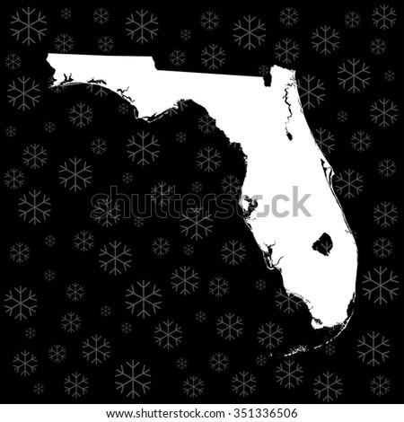 map of Florida - stock vector