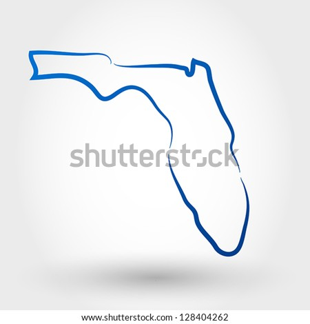 map of florida. map concept - stock vector