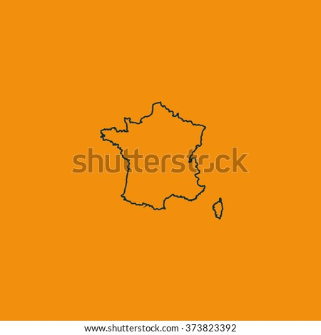 Map of France. - stock vector