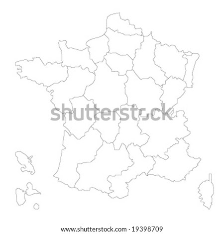 map of France Vector Illustration - stock vector