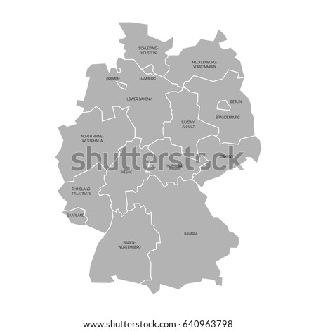 map germany devided 13 federal states stock vector hd royalty free 640963798 shutterstock