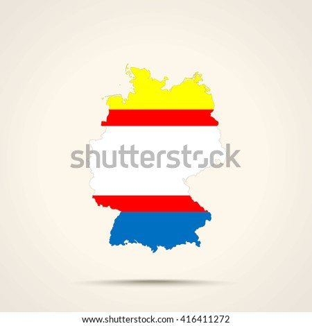 Map of Germany in Krymchaks flag colors