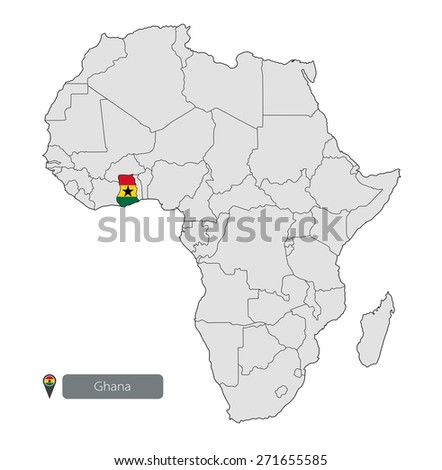 Map Ghana Official Flag Location On Stock Vector 271655585