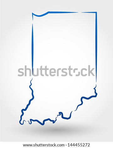 map of indiana. map concept - stock vector