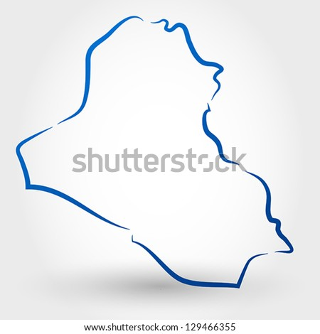 Map Iraq Map Concept Stock Vector 129466355 Shutterstock