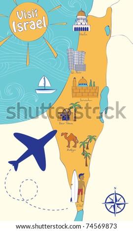 Map Of Israelu0027s Sights