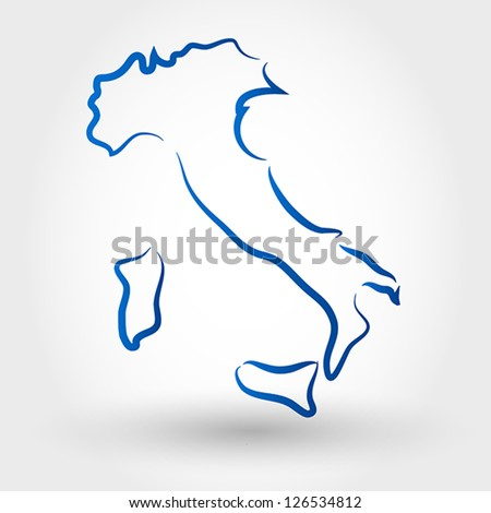 map of italy. map concept - stock vector