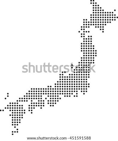 Map Japan Stock Vector Shutterstock - Japan map outline