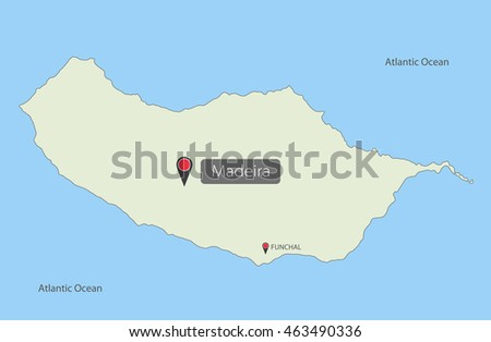 Madeira Island Stock Vectors Images Vector Art Shutterstock - Portugal map madeira