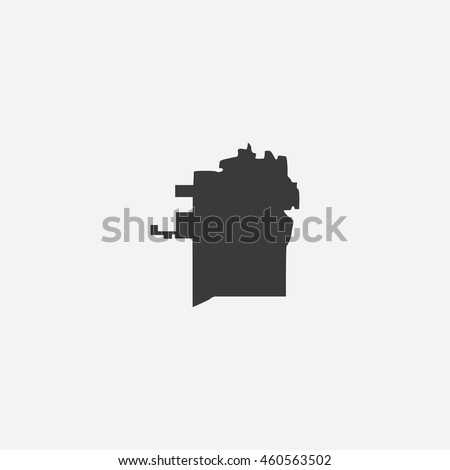 Map of Madison City Vector Illustration