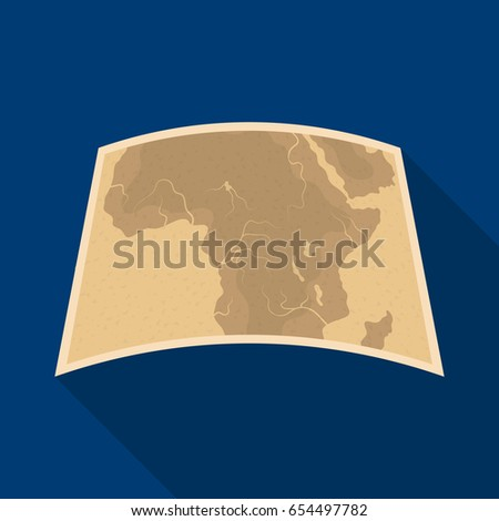 Map of mainland Africa.African safari single icon in flat style vector symbol stock illustration web.