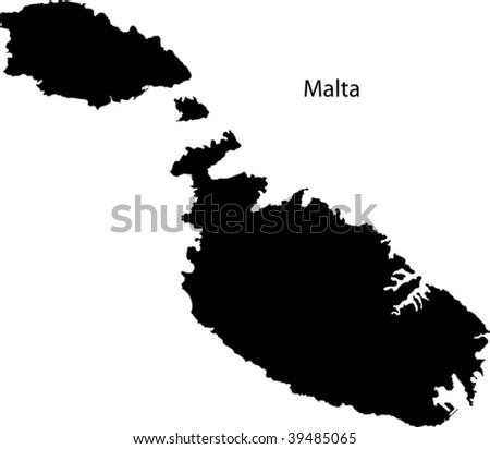 Map of Malta - stock vector