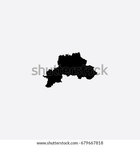 Map Mogilev Region Belarus Vector Illustration Stock Vector