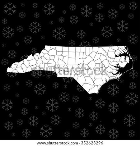 map of North Carolina - stock vector