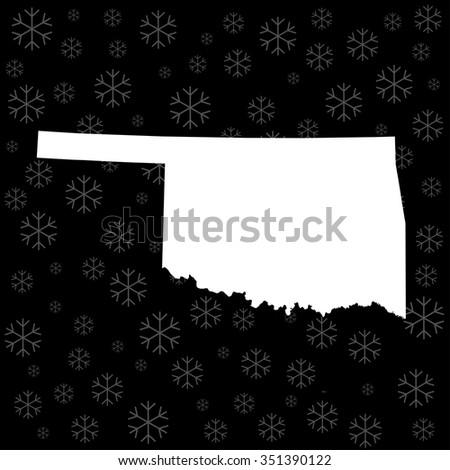 map of Oklahoma - stock vector