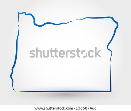 map of oregon. map concept - stock vector