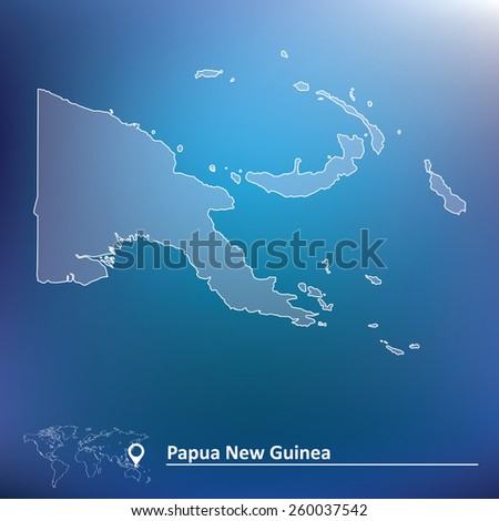 Map of Papua New Guinea - vector illustration