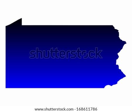 Map of Pennsylvania - stock vector