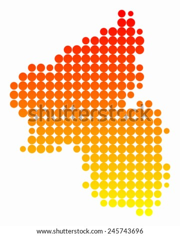 Map of Rhineland-Palatinate - stock vector
