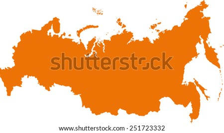 map of russia  - stock vector