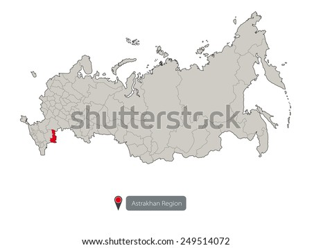 Map Russia Astrakhan Region Stock Vector 249514072 Shutterstock