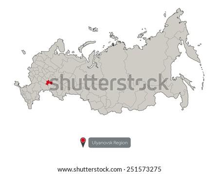 Map Russia Ulyanovsk Region Stock Vector 251573275 Shutterstock