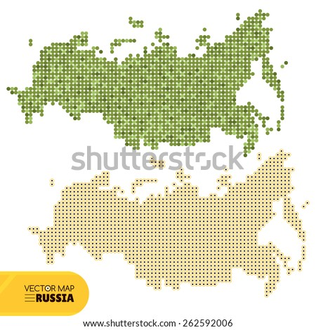 Map of Russia vector illustration - stock vector