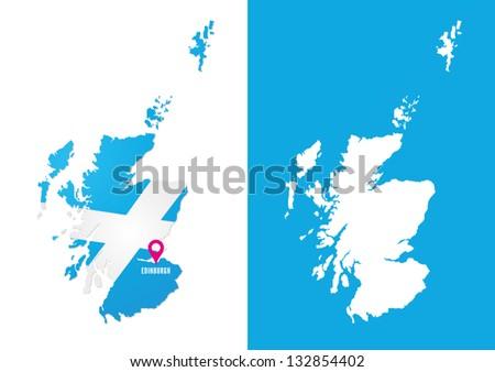 Map of Scotland - stock vector