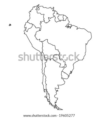 Map Of South America Vector Ilration