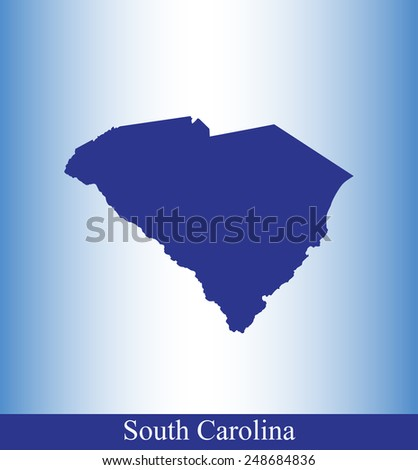 Map of South Carolina with a background - stock vector