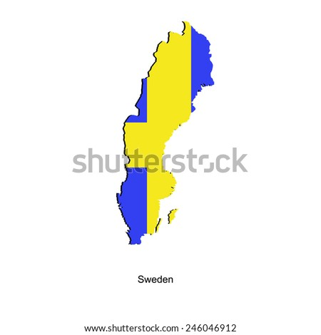 Map of Sweden  for your design, concept Illustration. - stock vector