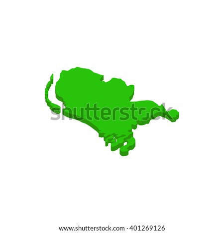 Map of the Netherlands icon, isometric 3d style  - stock vector