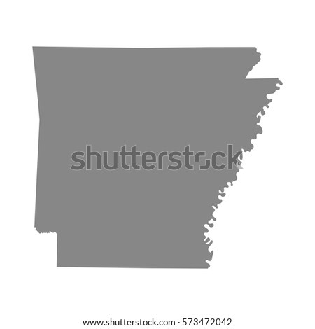 Map Of The U S State Of Arkansas