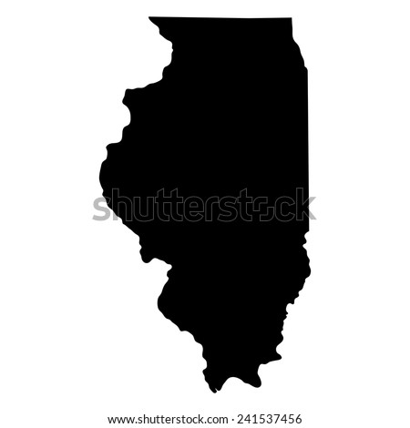 Map Of The U S State Of Illinois