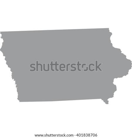 Map Us State Iowa Stock Vector Shutterstock - State of iowa map