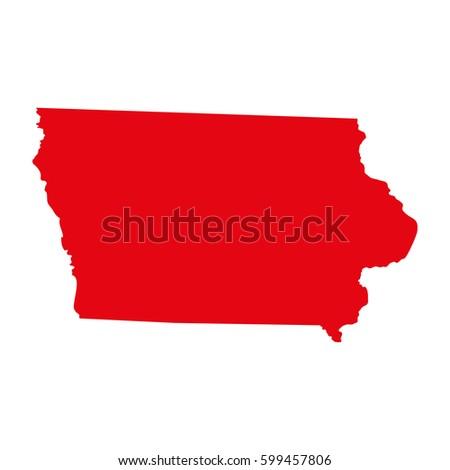 Map Us State Iowa Stock Vector Shutterstock - Iowa on us map