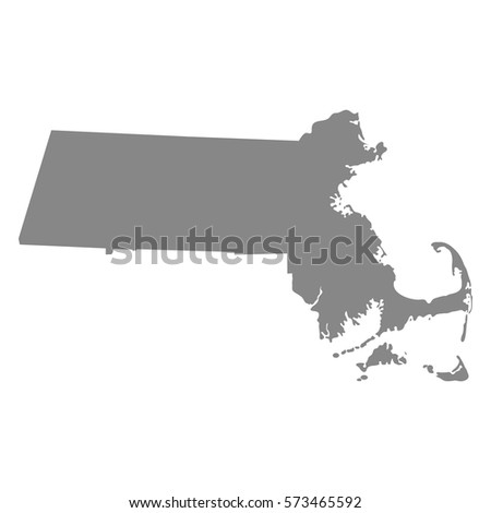 Map Of The U S State Of Massachusetts Vector