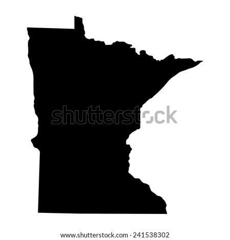 map of the U.S. state of Minnesota  - stock vector