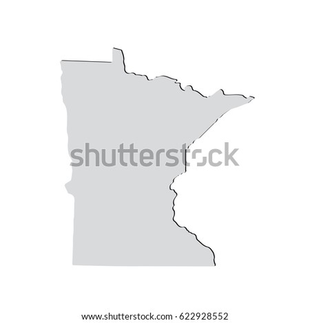 Map Us State Minnesota Stock Illustration Shutterstock - State of minnesota map