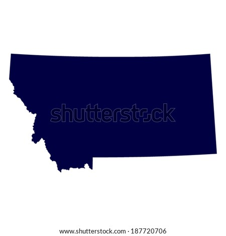 map of the U.S. state of Montana  - stock vector