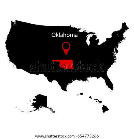 Map Us State Oklahoma Stock Vector Shutterstock - Us map oklahoma