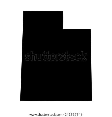 map of the U.S. state of Utah  - stock vector