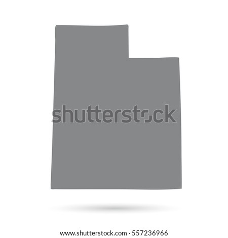 Map Of The U S State Of Utah On A White Background
