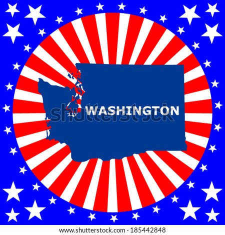 Map Us State Washington Stock Vector Shutterstock - Map of the us staes