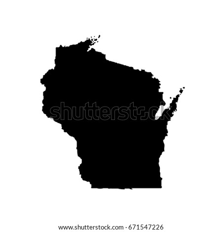 Map Of The U S State Wisconsin