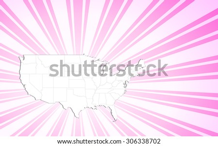 Map of The United States of America - Vector Illustration - stock vector